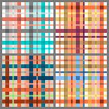 Set of seamless tartan patterns Royalty Free Stock Images