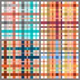 Set of seamless tartan patterns Royalty Free Stock Images