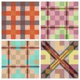 Set of seamless tartan patterns Stock Photos