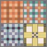 Set of seamless tartan patterns Stock Images