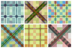 Set of seamless tartan patterns Royalty Free Stock Image