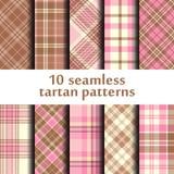 Set of seamless tartan patterns Royalty Free Stock Photo
