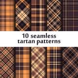 Set of seamless tartan patterns Stock Photo