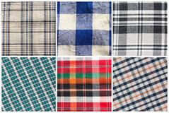 Set of seamless tartan patterns Stock Image