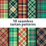 Set of seamless tartan patterns vector illustration