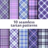 Set of seamless tartan patterns Royalty Free Stock Image