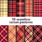 Set of seamless tartan patterns Stock Photography