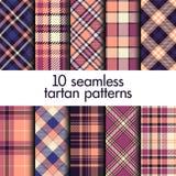 Set of seamless tartan patterns Royalty Free Illustration