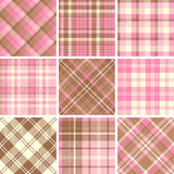 Set of seamless tartan patterns Royalty Free Stock Photos