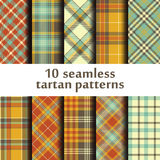 Set of 10 seamless tartan patterns Stock Image