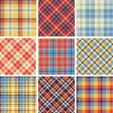 Set of seamless tartan patterns stock illustration