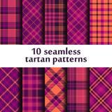 Set of seamless tartan patterns Stock Image