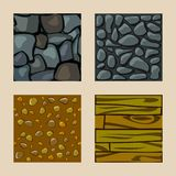 Set of  seamless texture Royalty Free Stock Photos