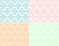 Set seamless texture with floral pattern Stock Photos