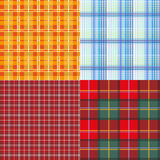 Set seamless texture plaid Royalty Free Stock Photography