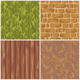 Set of seamless textures Royalty Free Stock Photo