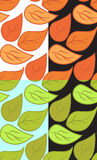 Set of seamless textures with doodle leaves. Stock Image