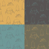 Set of 4 seamless textures  with hay Royalty Free Stock Photography
