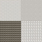 Set of seamless textures patterned Stock Photography