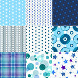 A set of seamless textures patterned Stock Photography