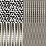 Set of seamless textures patterned Stock Photo