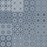 Set of seamless tileable background patterns Royalty Free Stock Photography