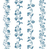 Set seamless trims floral pattern Stock Photo