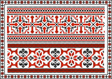 Set of seamless Ukrainian traditional patterns Royalty Free Stock Photos