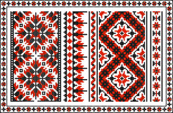 Set of seamless Ukrainian traditional patterns Stock Photography