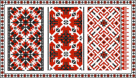 Set of seamless Ukrainian traditional patterns Royalty Free Stock Images