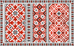 Set of seamless Ukrainian traditional patterns Royalty Free Stock Image