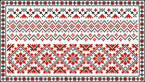 Set of seamless Ukrainian traditional patterns Royalty Free Stock Photo