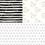 Set of  seamless Valentine Day patterns. Happy valentines day and weeding design elements. Great for Valentine`s Day, Mothe. R`s Day, wedding, scrapbook, surface Stock Images