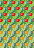 Set of seamless vector apple. Two version of a seamless vector pattern with apples and foliage Stock Images