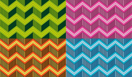 Set of seamless vector chevrons patterns Royalty Free Stock Photos