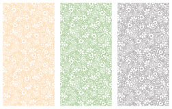 Set of seamless vector decorative hand drawn patterns. Ethnic endless background with ornamental decorative elements with traditio. Nal motives, tribal geometric Royalty Free Stock Image
