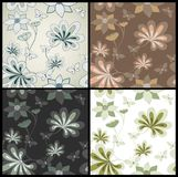 Set seamless vector floral pattern Royalty Free Stock Photos