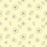 Set of seamless vector floral patterns. Hand drawn background with flowers, leaves, decorative elements. Graphic illustration. Ser Royalty Free Stock Photo
