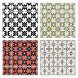 Set of seamless vector geometric colorful patterns with ornamental elements Stock Photography