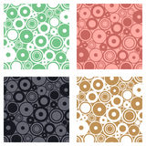 Set of seamless vector geometrical patterns. Endless print, backgrounds with circles. Graphic illustration. Template for cover, fa. Set of seamless vector Stock Photography