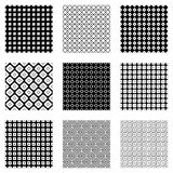 Set of seamless vector geometrical patterns.. Endless background with hand drawn ornamental tribal elements. Black and white graphic vector illustration with Royalty Free Stock Photo
