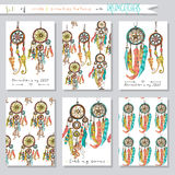 Set of seamless vector illustrations and cards Royalty Free Stock Image