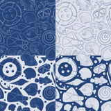 Set of seamless vector pattern with sea elements. EPS10 Royalty Free Stock Image
