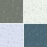 Set of Seamless Vector Patterns with Cute Hand Royalty Free Stock Photos