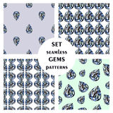 Set of seamless vector patterns Royalty Free Stock Image