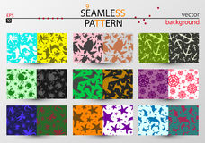 Set of seamless vector patterns in marine style stock illustration
