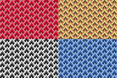 Set of seamless vector scales patterns Stock Photos