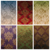 Set of seamless vintage background Stock Image