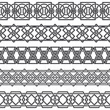 Set of seamless vintage borders in the form of cel Royalty Free Stock Images