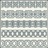 Set of seamless vintage borders in the form of celtic ornament Royalty Free Stock Photography